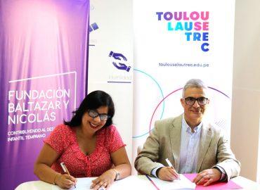Fundación Baltazar y Nicolás y Escuela Toulouse Lautrec suscriben convenio a favor del Desarrollo Infantil
