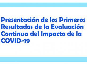 Evento Virtual: Presentación de resultados de la primera Evaluación Continua del Impacto de la COVID 19 en indicadores de desarrollo de Niñas y Niños menores de 6 años