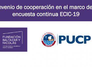 Fundación Baltazar y Nicolás y la Pontificia Universidad Católica del Perú suscriben convenio de cooperación en el marco de la encuesta continua ECIC-19