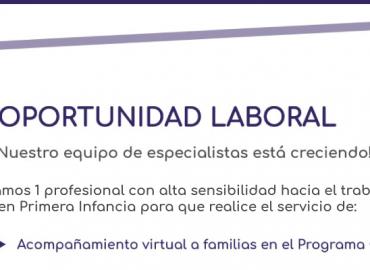 Oportunidad Laboral: Acompañamiento virtual a familias en el Programa CIB